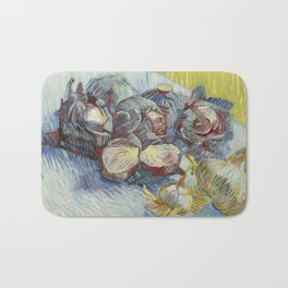 Vincent van Gogh - Red Cabbages and Onions (1887) Bath Mat