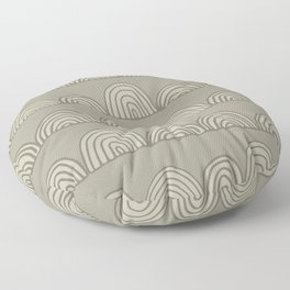 Sketched Rainbows in Stone Floor Pillow