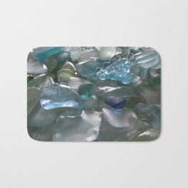 Ocean Hue Sea Glass Assortment Bath Mat