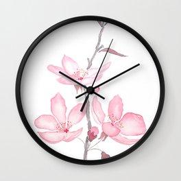 pink cherry blossom macro 2018 Wall Clock
