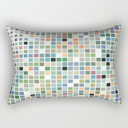 RAINBOW TILES Abstract Art Rectangular Pillow
