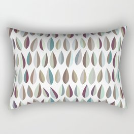 Mid-Century Modern Leaves Pattern Collection 2 Rectangular Pillow