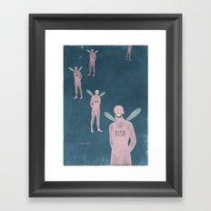 risk man ... Framed Art Print