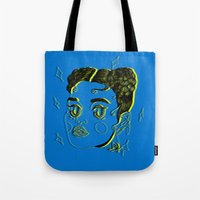 fka twigs Tote Bags featuring FKA TWIGS by DINA LOPEZ