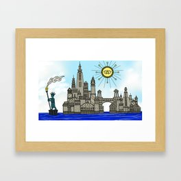 Old York City Framed Art Print