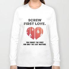 First Love [BLACK] Long Sleeve T-shirt