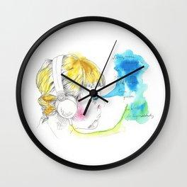 Listenting Celesta Wall Clock