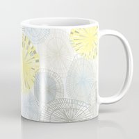 shells Mugs featuring Shells by Claire Brown Surface Pattern