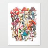 mushroom Canvas Prints featuring Mushroom by Gel Jamlang