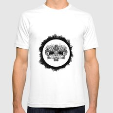 Half Evil Wild Monkey SMALL Mens Fitted Tee White