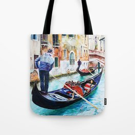 Gondolas on the Canals of Venice, Italy Tote Bag