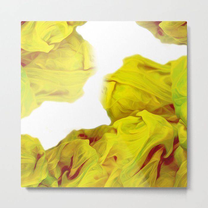 Yellow Ink Metal Print