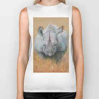 rhino Biker Tanks featuring RHINO by Canisart