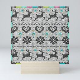 Scandinavian Knitting (Black&White) Mini Art Print