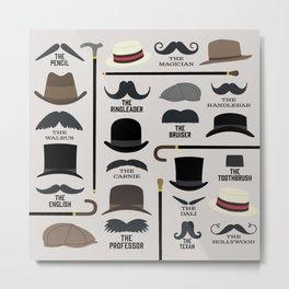 Moustache Styles Metal Print