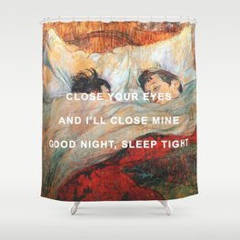 Good Night/The Bed Shower Curtain