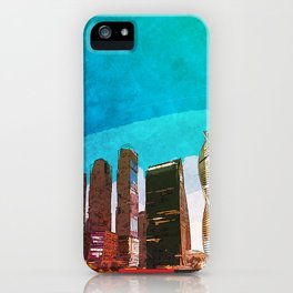 Moscow city skyline iPhone Case