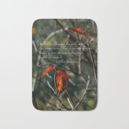 Autumns Last Dance with Shakespeare Cards & Posters Bath Mat