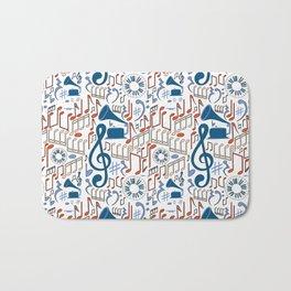 Music Pattern No.1 Bath Mat