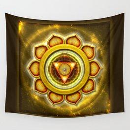 """Manipura Chakra - Solar Plexus Chakra Series """"Open Chakra"""" Wall Tapestry"""