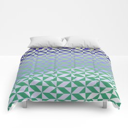 Magic Vibrations (Green) Comforters