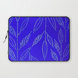 Linear Leaf Royal Blue Laptop Sleeve