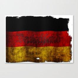 German Flag - Vintage... Canvas Print