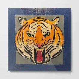 Fear The Tiger Metal Print