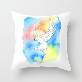 Shatter Me Bird in Flight Throw Pillow