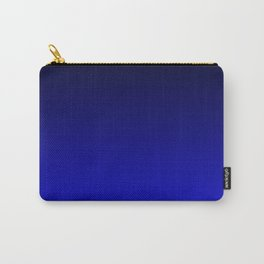 Black and Cobalt Gradient Carry-All Pouch