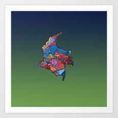 Colombia Verde Azul Art Print