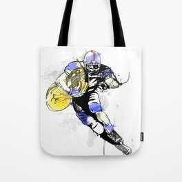 French Horn Football Tote Bag