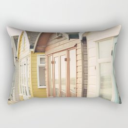 English Beach Huts Rectangular Pillow