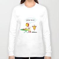 superheros Long Sleeve T-shirts featuring Ironing Man by Seedoiben