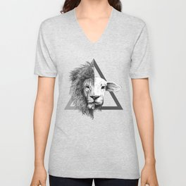 Lion and Lamb Unisex V-Neck