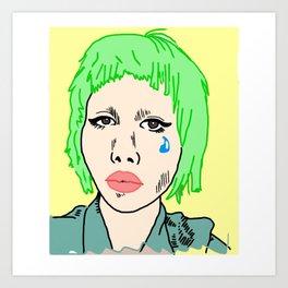 Clown Girl Art Print