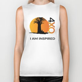 I AM INSPIRED Biker Tank