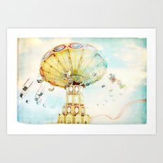 Step back into fun Art Print