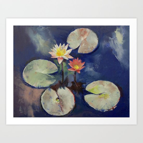 Water Lily Painting Art Print