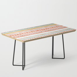 Boho Stripes - Watercolour pattern in rusts, turquoise & mustard. Nursery print Coffee Table