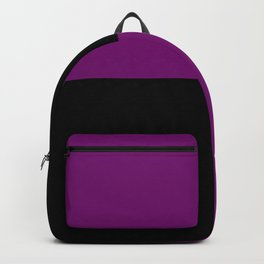 Psychedelic black and purple XIII. Backpack