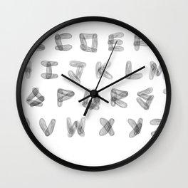 Three Kilometer Type Alphabet Wall Clock