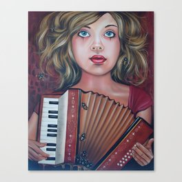 The Accordianist  Canvas Print