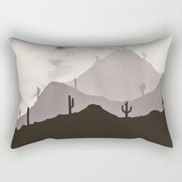 Arizona Desert Cactus Mountain Landscape Rectangular Pillow