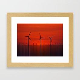 Wind Farms (Digital Art) Framed Art Print