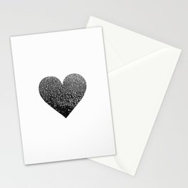 BLACK HEART Stationery Cards