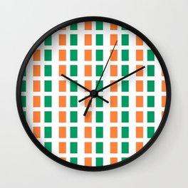 flag of ireland 2-ireland,eire,airlann,irish,gaelic,eriu,celtic,dublin,belfast,joyce,beckett Wall Clock