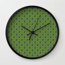 psychedelic trippy multi color pattern Wall Clock