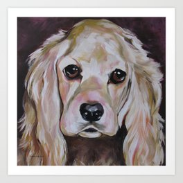 Cocker Spaniel Dog Pet Portrait Art Print
