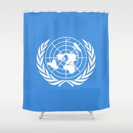 The United Nations Flag - UN Flag Shower Curtain